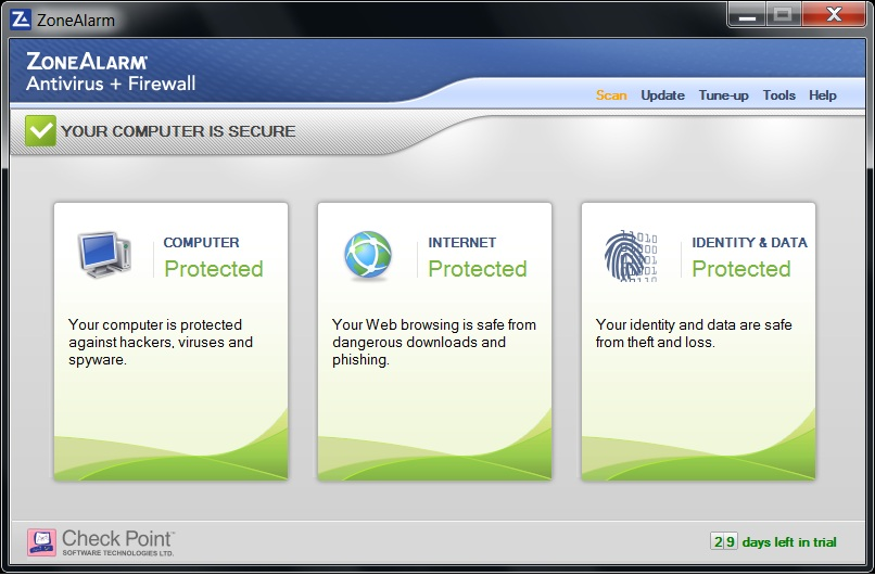 anti virus programs and firewall protection from identity theft Zonealarm ® internet security suite ™ 2009 multiple layers of protection include antivirus, anti-spyware, network and os firewall, identity theft protection.